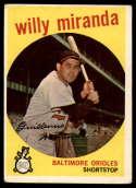 1959 Topps #540 Willy Miranda VG Very Good