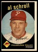1959 Topps #546 Al Schroll VG Very Good