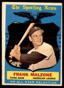 1959 Topps #558 Frank Malzone AS VG Very Good