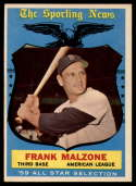 1959 Topps #558 Frank Malzone AS EX Excellent