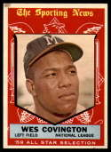 1959 Topps #565 Wes Covington AS VG/EX Very Good/Excellent