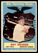 1959 Topps #566 Roy Sievers AS VG/EX Very Good/Excellent