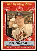 1959 Topps #567 Del Crandall AS VG/EX Very Good/Excellent