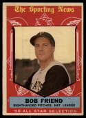 1959 Topps #569 Bob Friend AS VG/EX Very Good/Excellent