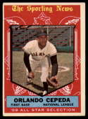 1959 Topps #553 Orlando Cepeda AS VG/EX Very Good/Excellent