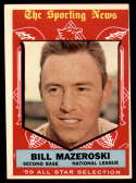 1959 Topps #555 Bill Mazeroski AS VG/EX Very Good/Excellent