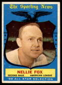 1959 Topps #556 Nellie Fox AS VG/EX Very Good/Excellent