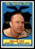 1959 Topps #556 Nellie Fox AS NM Near Mint