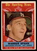 1959 Topps #571 Warren Spahn AS VG Very Good