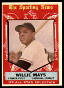 1959 Topps #563 Willie Mays AS EX Excellent