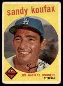 1959 Topps #163 Sandy Koufax G/VG Good/Very Good