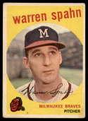 1959 Topps #40b Warren Spahn ERR VG Very Good