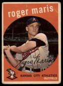 1959 Topps #202 Roger Maris G/VG Good/Very Good