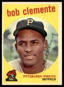 1959 Topps #478 Roberto Clemente EX Excellent