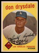 1959 Topps #387 Don Drysdale EX Excellent