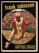 1959 Topps #435 Frank Robinson hole