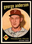 1959 Topps #338 Sparky Anderson EX Excellent RC Rookie