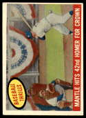 1959 Topps #461 Mickey Mantle Mantle Hits 42nd Homer For Crown VG/EX Very Good/Excellent