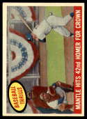 1959 Topps #461 Mickey Mantle Mantle Hits 42nd Homer For Crown EX Excellent