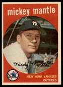 1959 Topps #10 Mickey Mantle EX Excellent