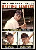 1964 Topps #8 Carl Yastrzemski/Al Kaline/Rich Rollins AL Batting Leaders VG Very Good