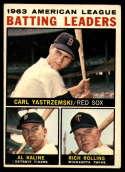1964 Topps #8 Carl Yastrzemski/Al Kaline/Rich Rollins AL Batting Leaders VG/EX Very Good/Excellent