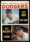 1964 Topps #14 Dick Nen/Nick Willhite Dodgers Rookies VG Very Good RC Rookie