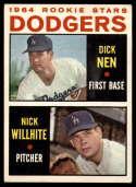 1964 Topps #14 Dick Nen/Nick Willhite Dodgers Rookies VG/EX Very Good/Excellent RC Rookie