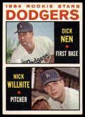 1964 Topps #14 Dick Nen/Nick Willhite Dodgers Rookies EX Excellent RC Rookie