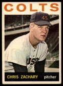 1964 Topps #23 Chris Zachary VG Very Good RC Rookie
