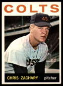 1964 Topps #23 Chris Zachary VG/EX Very Good/Excellent RC Rookie