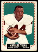 1964 Topps #86 Charley Tolar VG Very Good SP