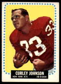 1964 Topps #114 Curley Johnson VG Very Good SP