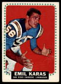 1964 Topps #161 Emil Karas VG Very Good SP