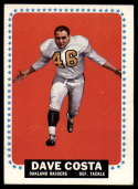 1964 Topps #134 Dave Costa VG/EX Very Good/Excellent RC Rookie