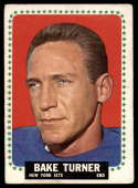 1964 Topps #127 Bake Turner VG Very Good RC Rookie SP