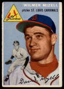 1954 Topps #249 Wilmer Mizell VG Very Good