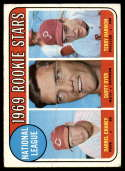 1969 Topps #624 Darrel Chaney/Duffy Dyer/Terry Harmon N.L. Rookies G/VG Good/Very Good RC Rookie