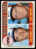 1969 Topps #646 Dan McGinn/Carl Morton Expos Rookies EX/NM RC Rookie