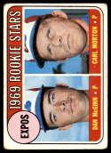 1969 Topps #646 Dan McGinn/Carl Morton Expos Rookies VG Very Good RC Rookie