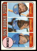 1969 Topps #662 Dick Drago/George Spriggs/Bob Oliver Royals Rookies EX Excellent RC Rookie