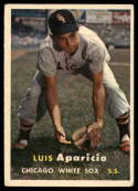 1957 Topps #7 Luis Aparicio UER VG/EX Very Good/Excellent