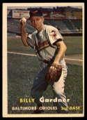 1957 Topps #17 Billy Gardner VG/EX Very Good/Excellent