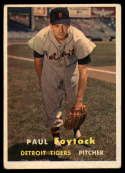 1957 Topps #77 Paul Foytack VG Very Good RC Rookie