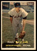 1957 Topps #77 Paul Foytack EX Excellent RC Rookie