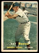 1957 Topps #102 Ray Boone VG/EX Very Good/Excellent