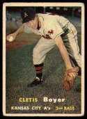 1957 Topps #121 Clete Boyer VG Very Good RC Rookie