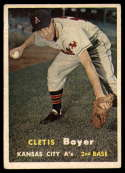 1957 Topps #121 Clete Boyer VG/EX Very Good/Excellent RC Rookie