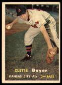 1957 Topps #121 Clete Boyer EX Excellent RC Rookie