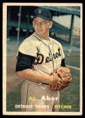 1957 Topps #141 Al Aber VG/EX Very Good/Excellent